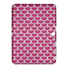 Scales3 White Marble & Pink Denim Samsung Galaxy Tab 4 (10 1 ) Hardshell Case  by trendistuff