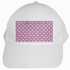 Scales2 White Marble & Pink Denim (r) White Cap