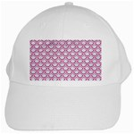 SCALES2 WHITE MARBLE & PINK DENIM (R) White Cap Front