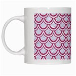 SCALES2 WHITE MARBLE & PINK DENIM (R) White Mugs Left