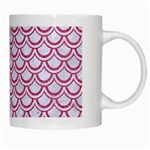 SCALES2 WHITE MARBLE & PINK DENIM (R) White Mugs Right