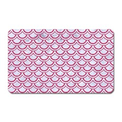 Scales2 White Marble & Pink Denim (r) Magnet (rectangular) by trendistuff
