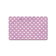 Scales2 White Marble & Pink Denim (r) Magnet (name Card) by trendistuff