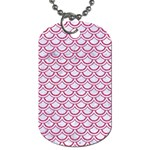 SCALES2 WHITE MARBLE & PINK DENIM (R) Dog Tag (One Side) Front
