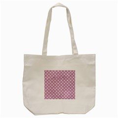 Scales2 White Marble & Pink Denim (r) Tote Bag (cream) by trendistuff