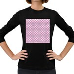 SCALES2 WHITE MARBLE & PINK DENIM (R) Women s Long Sleeve Dark T-Shirts Front