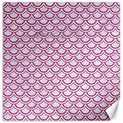 Scales2 White Marble & Pink Denim (r) Canvas 20  X 20