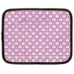 SCALES2 WHITE MARBLE & PINK DENIM (R) Netbook Case (Large) Front