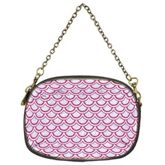 Scales2 White Marble & Pink Denim (r) Chain Purses (one Side)  by trendistuff