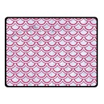 SCALES2 WHITE MARBLE & PINK DENIM (R) Fleece Blanket (Small) 50 x40 Blanket Front