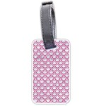 SCALES2 WHITE MARBLE & PINK DENIM (R) Luggage Tags (One Side)  Front