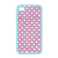 Scales2 White Marble & Pink Denim (r) Apple Iphone 4 Case (color)