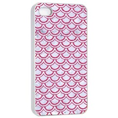Scales2 White Marble & Pink Denim (r) Apple Iphone 4/4s Seamless Case (white) by trendistuff