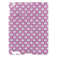 Scales2 White Marble & Pink Denim (r) Apple Ipad 3/4 Hardshell Case