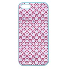 Scales2 White Marble & Pink Denim (r) Apple Seamless Iphone 5 Case (color) by trendistuff