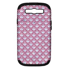 Scales2 White Marble & Pink Denim (r) Samsung Galaxy S Iii Hardshell Case (pc+silicone) by trendistuff
