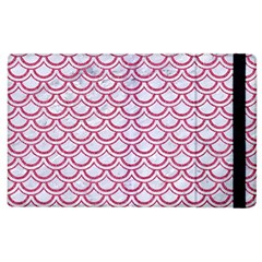 Scales2 White Marble & Pink Denim (r) Apple Ipad 3/4 Flip Case