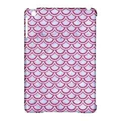 Scales2 White Marble & Pink Denim (r) Apple Ipad Mini Hardshell Case (compatible With Smart Cover)