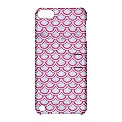 Scales2 White Marble & Pink Denim (r) Apple Ipod Touch 5 Hardshell Case With Stand