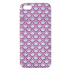 Scales2 White Marble & Pink Denim (r) Apple Iphone 5 Premium Hardshell Case