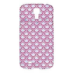 Scales2 White Marble & Pink Denim (r) Samsung Galaxy S4 I9500/i9505 Hardshell Case by trendistuff