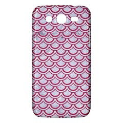 Scales2 White Marble & Pink Denim (r) Samsung Galaxy Mega 5 8 I9152 Hardshell Case  by trendistuff