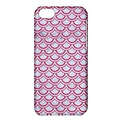 Scales2 White Marble & Pink Denim (r) Apple Iphone 5c Hardshell Case by trendistuff