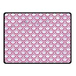 SCALES2 WHITE MARBLE & PINK DENIM (R) Double Sided Fleece Blanket (Small)  45 x34 Blanket Back