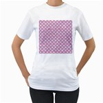 SCALES2 WHITE MARBLE & PINK DENIM (R) Women s T-Shirt (White)  Front