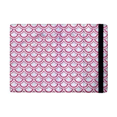 Scales2 White Marble & Pink Denim (r) Ipad Mini 2 Flip Cases by trendistuff