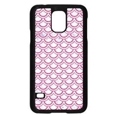 Scales2 White Marble & Pink Denim (r) Samsung Galaxy S5 Case (black)