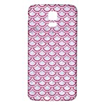SCALES2 WHITE MARBLE & PINK DENIM (R) Samsung Galaxy S5 Back Case (White) Front