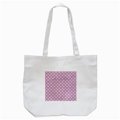 Scales2 White Marble & Pink Denim (r) Tote Bag (white) by trendistuff