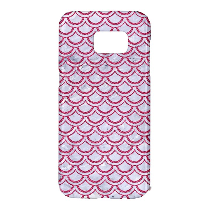 SCALES2 WHITE MARBLE & PINK DENIM (R) Samsung Galaxy S7 Edge Hardshell Case