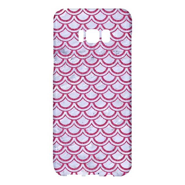 SCALES2 WHITE MARBLE & PINK DENIM (R) Samsung Galaxy S8 Plus Hardshell Case