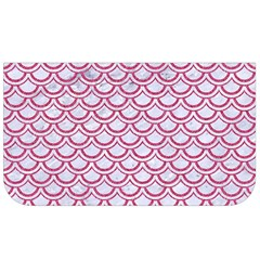 Scales2 White Marble & Pink Denim (r) Lunch Bag