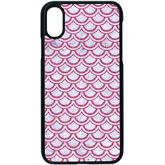 Scales2 White Marble & Pink Denim (r) Apple Iphone X Seamless Case (black) by trendistuff