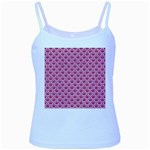SCALES2 WHITE MARBLE & PINK DENIM Baby Blue Spaghetti Tank Front