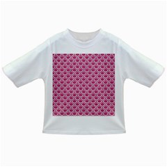 SCALES2 WHITE MARBLE & PINK DENIM Infant/Toddler T-Shirts