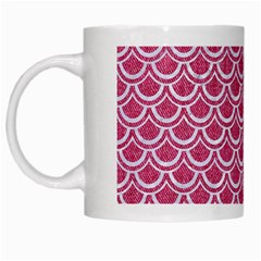 Scales2 White Marble & Pink Denim White Mugs