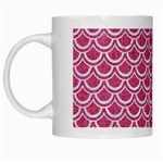 SCALES2 WHITE MARBLE & PINK DENIM White Mugs Left