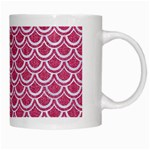 SCALES2 WHITE MARBLE & PINK DENIM White Mugs Right