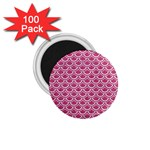 SCALES2 WHITE MARBLE & PINK DENIM 1.75  Magnets (100 pack)  Front