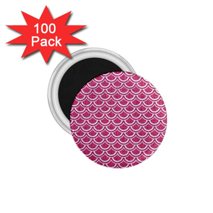 SCALES2 WHITE MARBLE & PINK DENIM 1.75  Magnets (100 pack)