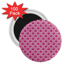 SCALES2 WHITE MARBLE & PINK DENIM 2.25  Magnets (100 pack)