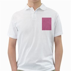 Scales2 White Marble & Pink Denim Golf Shirts