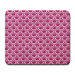 SCALES2 WHITE MARBLE & PINK DENIM Large Mousepads
