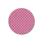 SCALES2 WHITE MARBLE & PINK DENIM Magnet 3  (Round) Front