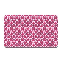 Scales2 White Marble & Pink Denim Magnet (rectangular) by trendistuff