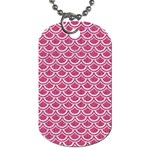 SCALES2 WHITE MARBLE & PINK DENIM Dog Tag (One Side) Front